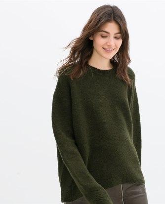 zara oversized sweater
